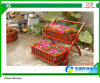 주문을 받아서 만들어진 Decorative Composite Material Outdoor Flower Pots 및 Wheels와 Legs를 가진 Planter