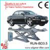セリウムとの車輪Alignment Scissor Lift Platform