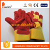 赤い牛そぎ皮の手袋の安全働く手袋Dlc223