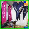 Kundenspezifischer Beachflag im FreienTeardrop, der Segel-Fahnen-Markierungsfahne bekanntmacht