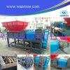 Máquina plástica de la trituradora de residuos del eje doble