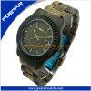 Relógio do bracelete de relógios dos homens de madeira do preço barato com qualidade impermeável