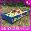 Sistema de madera del tren del modelo del juguete del cabrito del nuevo diseño 2016, sistema de madera del tren del juguete del cabrito de la mejor venta, tren de madera W04c037 determinado del juguete de la alta calidad