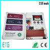 Карточки LCD 2.8 дюймов, брошюра видео- карточки LCD