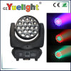 diodo emissor de luz Beam Wash Moving Head Light de 19PCS 12W RGBW 4in1