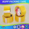 Cinta adhesiva amarillenta del embalaje del lacre BOPP del cartón de Hongsu