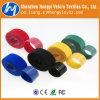 Cinta plástica de nylon colorida do gancho e do Velcro do laço