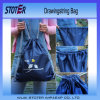 性質カラー小さいジュート袋のEcoのドローストリング袋