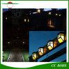 Luzes ao ar livre da cerca do corredor do jardim da luz solar solar impermeável do trajeto do diodo emissor de luz do ABS das lâmpadas de parede