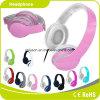 Auscultadores perfeito personalizado colorido cor-de-rosa da música do efeito sadio do logotipo