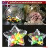 Christmas Fillable Candy Box Bauble Decoração Ornamento de plástico transparente (CH8101)