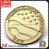 Монетка выполненного на заказ коммеморативного золота покрынная медная