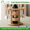 Estante colgante de la taza del vino del sostenedor de botella de vino hecho de bambú