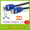 Affissione a cristalli liquidi HDTV di HDMI Cable 1ft Version 1.4 Gold Digital Audio/Video Cable 1080P 3D