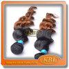Extensão brasileira natural do cabelo de dois tons