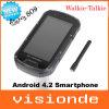 estoque russo duplo impermeável Shockproof Dustproof de Smartphone IP68 SIM GPS Android 4.2 de S09 Ptt em Mtk6589 4.3 do