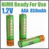 batería recargable lista para utilizar AAA 850mAh de 1.2V NiMH