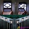 Angeschaltene LED-Wand-Leuchte-Sensor-Solarwand-Solarlampe