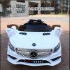 Conduite à piles blanche de deux gosses de moteurs sur le véhicule électrique