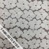 Большая ткань шнурка картины белого цветка
