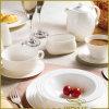 L'euro élégant blanc de jeu de dîner de porcelaine de 10 PCS raye la série