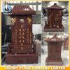 Het rode Chinese Monument van het Graniet poetste de Aziatische Grafsteen van de Stijl voor Verkoop op