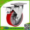 Industrie-Fußrolle PU-Roheisen-Kern-Rad-Fußrolle