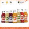 Стикер печатание ярлыка бутылки напитка фруктового сока напечатанный пластмассой прозрачный