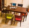 Vector y silla tallados Antiqued de madera franceses de cena del cuero de Upholatered de la venta al por mayor casera principal de los muebles de la alta calidad