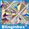 El vidrio cristalino del triángulo del Ab 16*16m m Flatback del cristal de la fábrica de Oleeya de la marca de fábrica de Blinginbox cose en Rhinestone