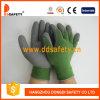 10 guantes de trabajo Dkl412 del T/C del calibrador del shell del látex de la capa gris verde de la espuma