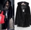 方法冬の偽造品のミンクの毛皮の女性のコート