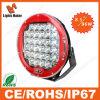 Zwarte Red Round 8.5inch 96W LED Light Working