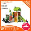 Patio de recreo al aire libre toboganes de recreo Equipamiento Playsets en el parque