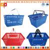 Mehr Farben-Supermarkt-Doppelt-Griff-Einkaufskorb (Zhb42)