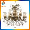 BronzeluxuxCrytal Leuchter-Lampe mit dekorativer Flasche