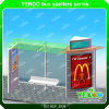Cobertizo al aire libre de la ciudad que hace publicidad de la visualización de Lightbox