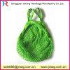 Kleine MOQ Wholesal hellgrüne Baumwollnetz-Ineinander greifen-Einkaufstasche