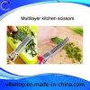 Edelstahl-Küche-Zubehör-mehrschichtige Scheren mit ABS Griff