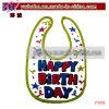 Baby Garment Custom Interlock Baby Bib Party Baby Goods (P1018)