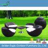 Wasserdichte im Freienmöbel-aus Weiden geflochtenes globales Freizeit-Set