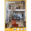 ステンレス鋼の手すり階段デザインの屋内現代木製の螺旋階段