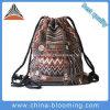 女性の方法綿のキャンバスの民族のGymsackのドローストリング袋
