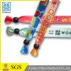 Wristband сатинировки дешевого изготовленный на заказ празднества орнаментальный