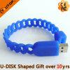 Palillo de destello del USB del Wristband del silicón de la depresión del regalo de los deportes (YT-6309)