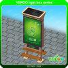 Contenitore chiaro di manifesto statico esterno della pubblicità di energia solare