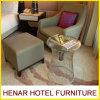 Cadeira estofada da sala de estar da madeira contínua tela clássica com otomano