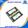 LaptopのためのEtt Original Chips 32MB*16 8IC 333MHz 512MB DDR RAM