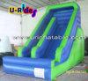 Uso casero de la diapositiva inflable del color verde para el patio trasero