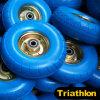 Gomma della gomma piuma dell'unità di elaborazione di Handtruck con la rotella d'acciaio dorata 4.10/3.50-4
